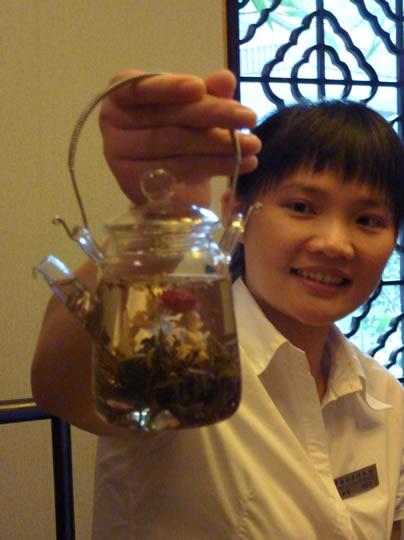 Fleur e thé en Chine