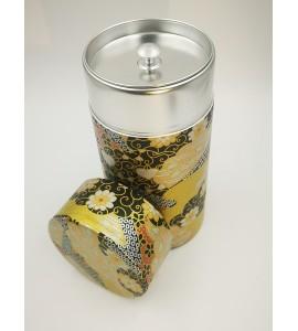 Boîte à thé japonaise motifs dorés