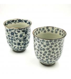 Coffret 2 tasses porcelaine japonaise