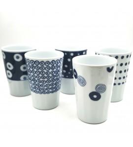Coffret 5 mugs japonais 250 ml