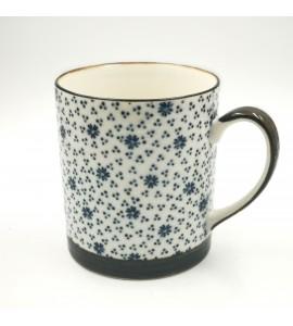 Mug porcelaine japonaise petites fleurs