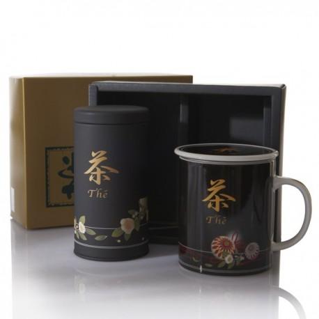 "Coffret ""THE"" boite à thé+mug"