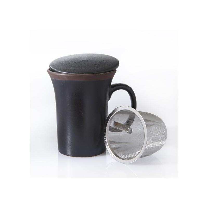 mug marron fonc int rieur couleur filtre couvercle teamothe. Black Bedroom Furniture Sets. Home Design Ideas