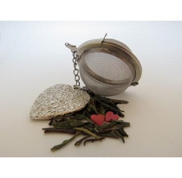 Boule à thé, pendentif coeur
