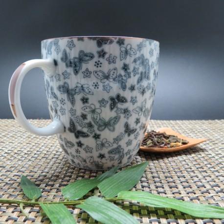 Tasse bleue japon avec anse