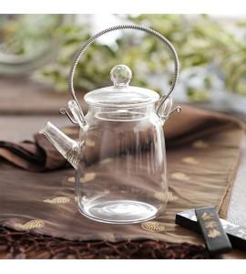 Coffret théière verre + fleurs de thé