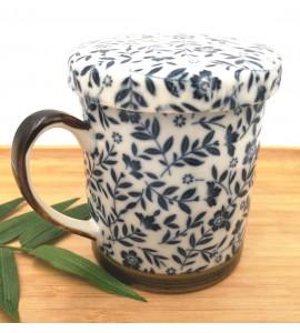 Mug+ filtre + couvercle céramique japonaise