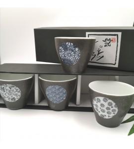 Coffret 4 tasses céramique japonaise