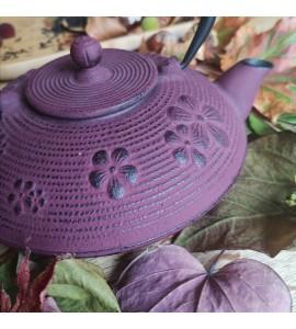 Théière fonte violette 0,8l