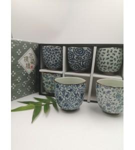 Coffret 6 tasses céramique japonaise